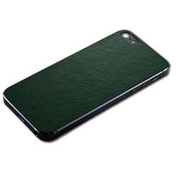 iPhone SE/5s/5用 テクスチャー背面シート(レザーグリーン)