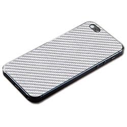 iPhone SE/5s/5用 テクスチャー背面シート(カーボンホワイト)