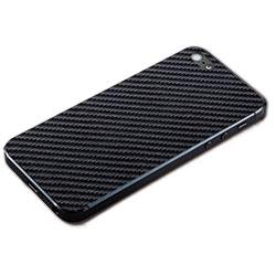 iPhone SE/5s用 テクスチャー背面シート(カーボンブラック)