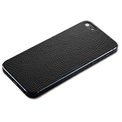 iPhone SE/5s/5 ケース iPhone SE/5s用 テクスチャー背面シート(レザーブラック)_0