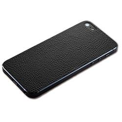 iPhone SE/5s用 テクスチャー背面シート(レザーブラック)