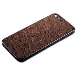 iPhone SE/5s/5用 テクスチャー背面シート(レザーブラウン)