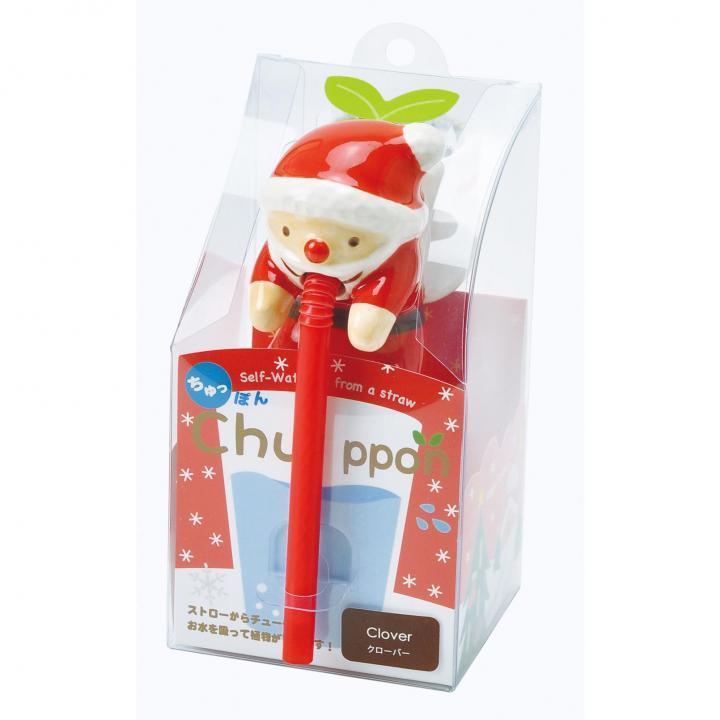 デスクで楽しめる 栽培セット ちゅっぽんクリスマス サンタ(クローバー)_0