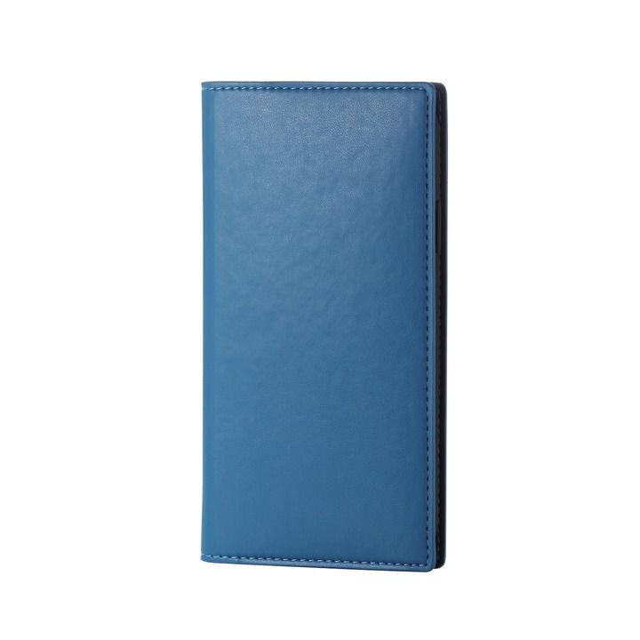 iPhone XR ケース ソフトレザー手帳型ケース イタリアン(Coronet) フレンチブルー iPhone XR_0
