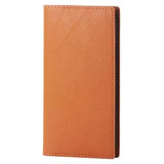 iPhone XS ケース ソフトレザー手帳型ケース イタリアン(Coronet) オレンジスカッシュ iPhone XS