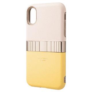 iPhone XS/X ケース GRAMAS Rel ハイブリッドケース イエロー iPhone XS/X