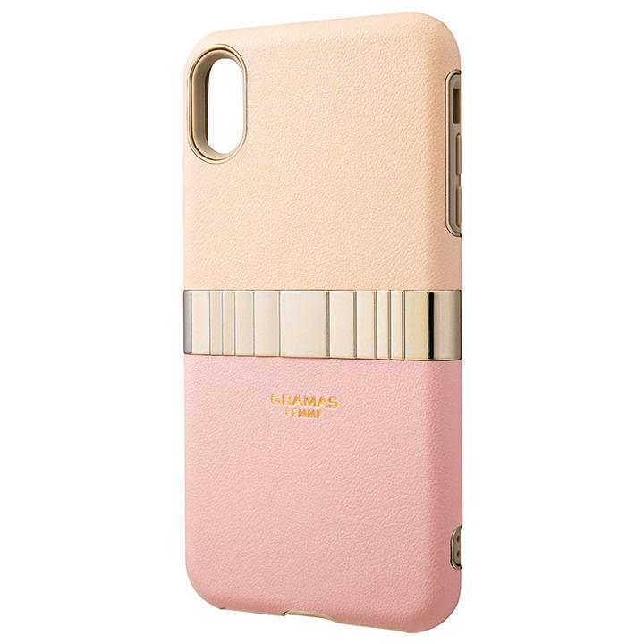 iPhone XS Max ケース GRAMAS Rel ハイブリッドケース ピンク iPhone XS Max_0