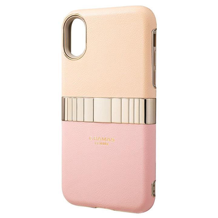 iPhone XS/X ケース GRAMAS Rel ハイブリッドケース ピンク iPhone XS/X_0