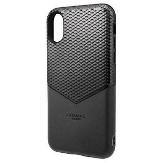 【iPhone XSケース】GRAMAS Edge ハイブリッドケース ブラック iPhone XS