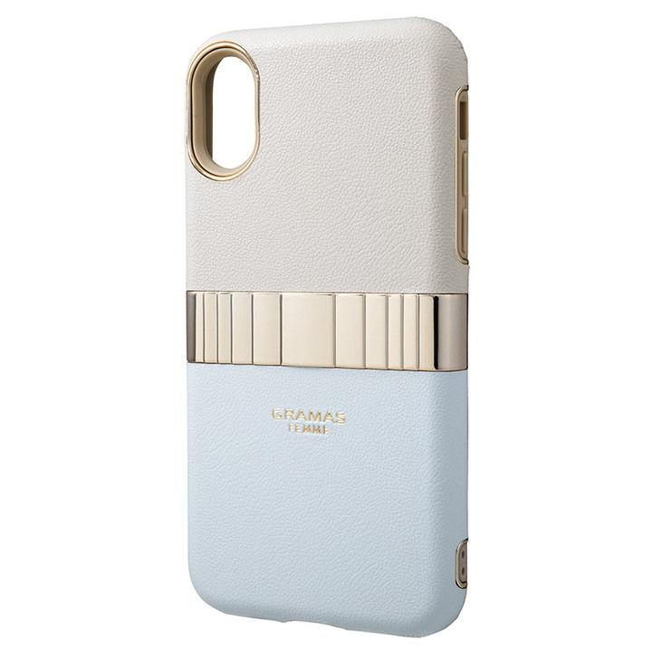 iPhone XS/X ケース GRAMAS Rel ハイブリッドケース ライトブルー iPhone XS/X_0