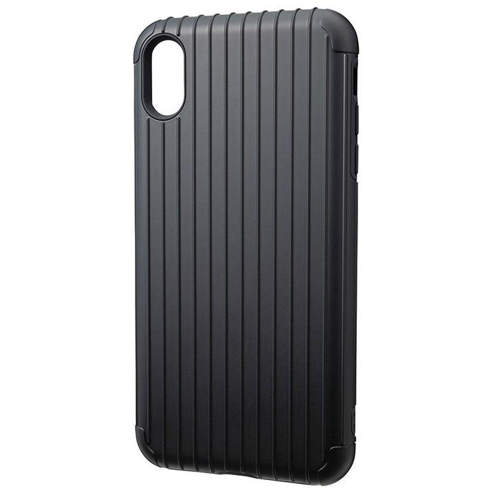 iPhone XS Max ケース GRAMAS Rib ハイブリッドケース ブラック iPhone XS Max_0