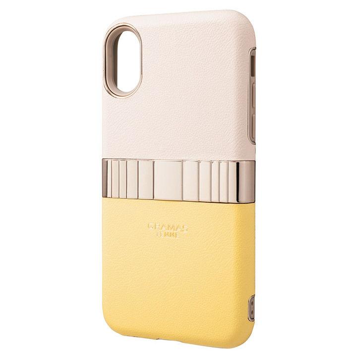 iPhone XS/X ケース GRAMAS Rel ハイブリッドケース イエロー iPhone XS/X_0