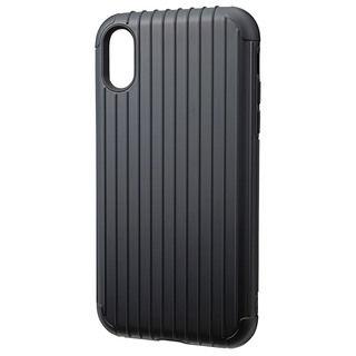 iPhone XR ケース GRAMAS Rib ハイブリッドケース ブラック iPhone XR