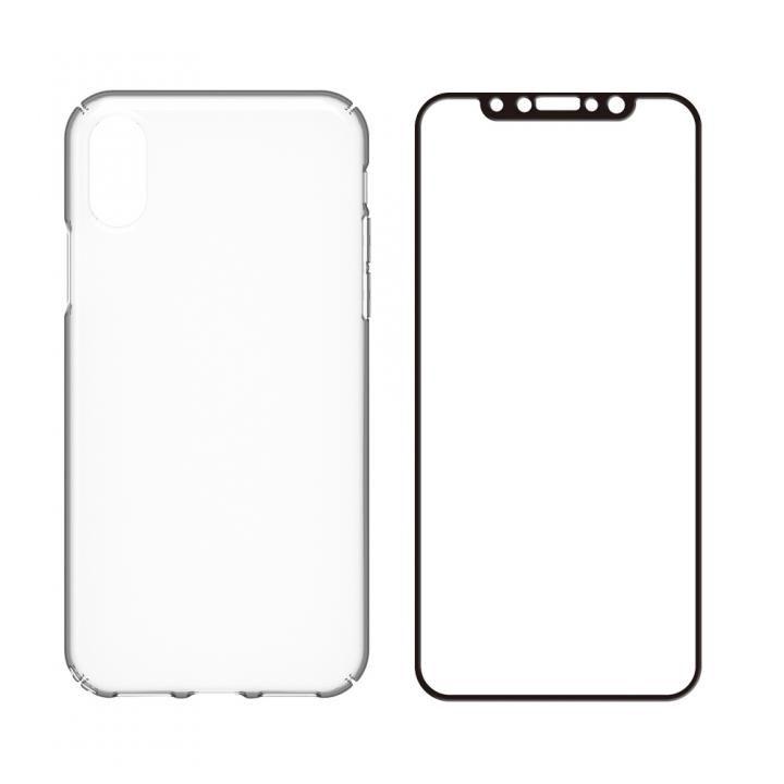 【iPhone Xケース】simplism キズ修復防指紋ケース&ガラスセット Airly Repair Pro ブラックフレーム iPhone X_0