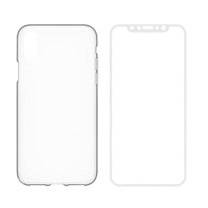 【iPhone Xケース】simplism キズ修復防指紋ケース&ガラスセット Airly Repair Pro ホワイトフレーム iPhone X_0