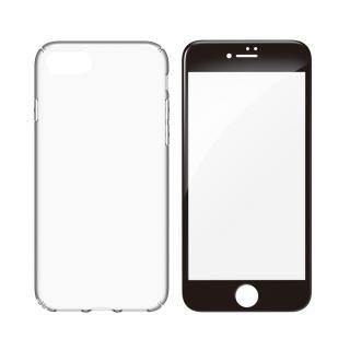 【iPhone8ケース】simplism キズ修復防指紋ケース&ガラスセット Airly Repair Pro ブラックフレーム iPhone 8