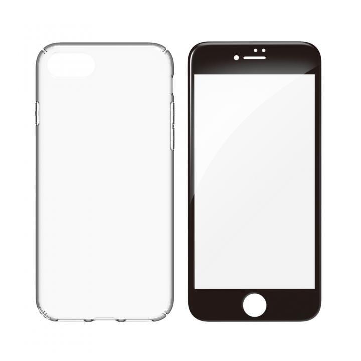 【iPhone8ケース】simplism キズ修復防指紋ケース&ガラスセット Airly Repair Pro ブラックフレーム iPhone 8_0