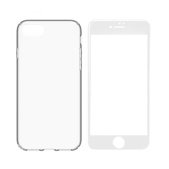 iPhone8 ケース simplism キズ修復防指紋ケース&ガラスセット Airly Repair Pro ホワイトフレーム iPhone 8_0