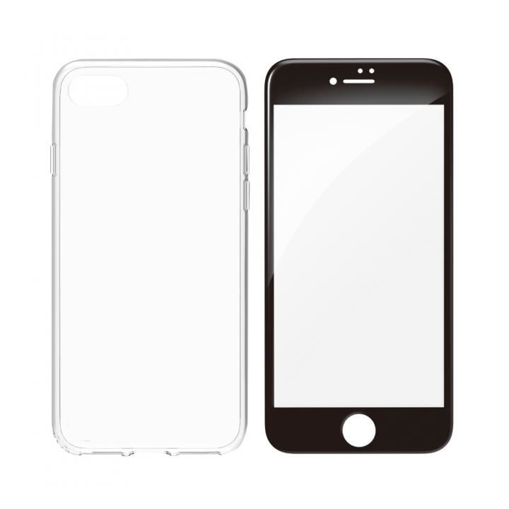 【iPhone8ケース】simplism フルカバーTPUケース&ガラスセット Aegis Pro ブラックフレーム iPhone 8_0