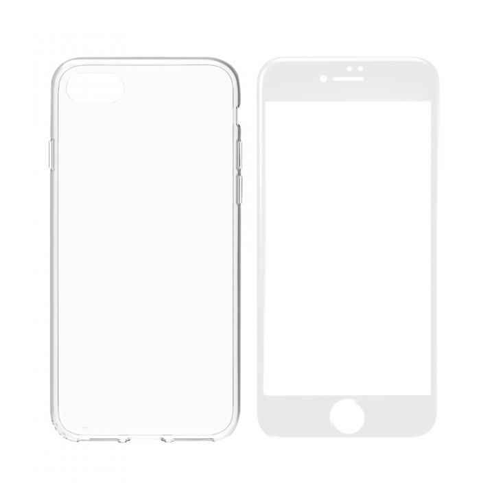 iPhone8 Plus ケース simplism フルカバーTPUケース&ガラスセット Aegis Pro ホワイトフレーム iPhone 8 Plus_0