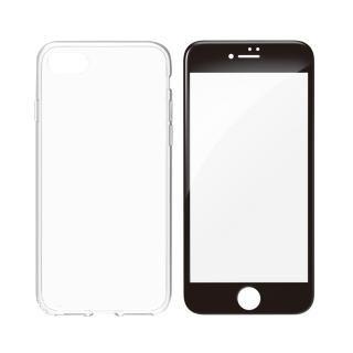 【iPhone8 Plusケース】simplism フルカバーTPUケース&ガラスセット Aegis Pro ブラックフレーム iPhone 8 Plus