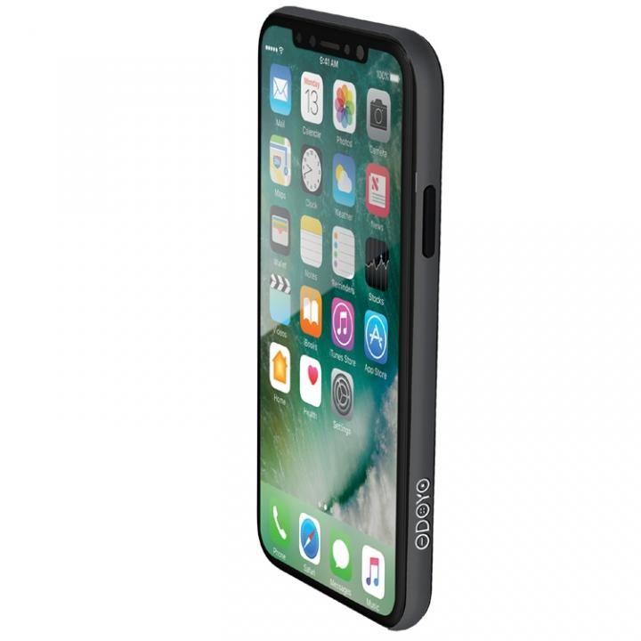 【iPhone Xケース】ODOYO定番の二重構造バンパー ブレードエッジ ミッドナイトブラック iPhone X_0