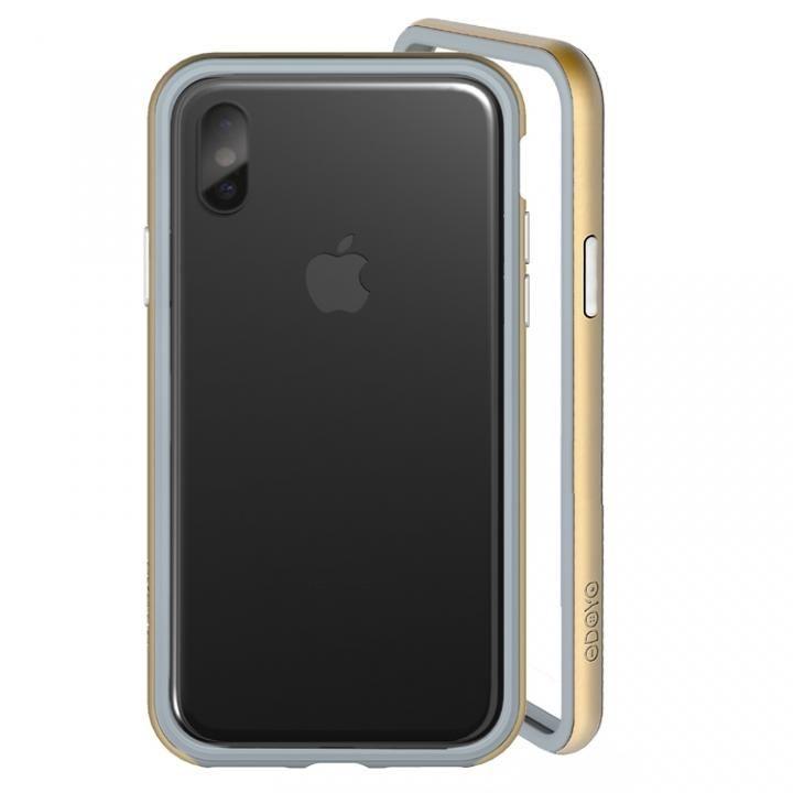 ODOYO定番の二重構造バンパー ブレードエッジ オリオンゴールド iPhone X【10月下旬】