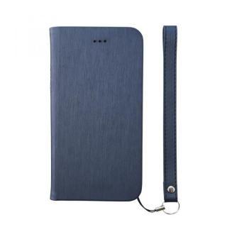 【iPhone8ケース】simplism フリップノートケース FlipNote Slim ヘアラインネイビー iPhone 8