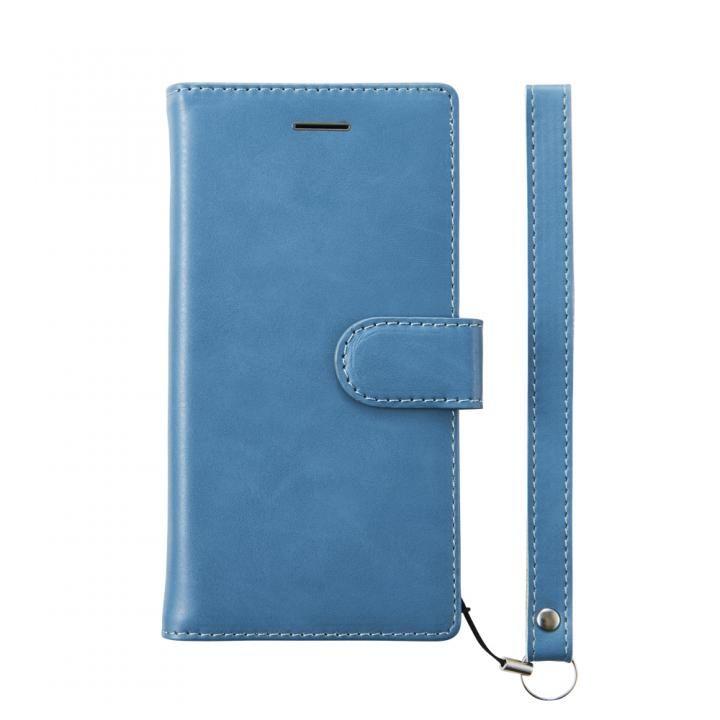 【iPhone8ケース】simplism フリップノートケース FlipNote ブルー iPhone 8_0