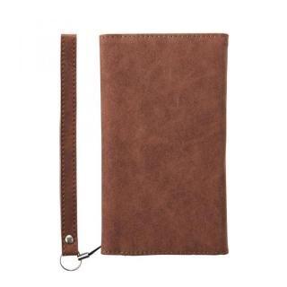 【iPhone8 ケース】simplism フリップノートカードケース BillFold ブラウン iPhone 8