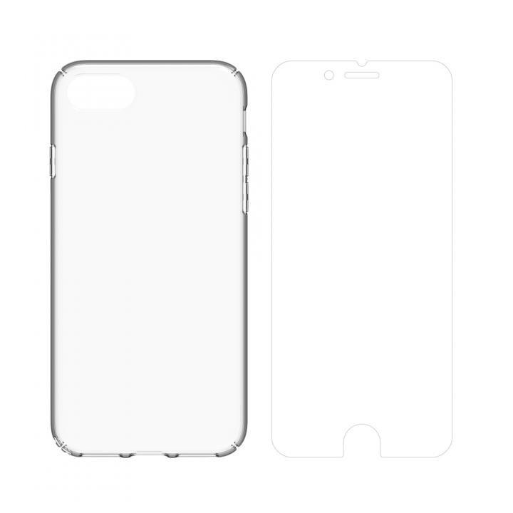 【iPhone8/7ケース】simplism キズ修復防指紋ケース&フィルムセット Airly Repair Plus クリア iPhone 8/7_0