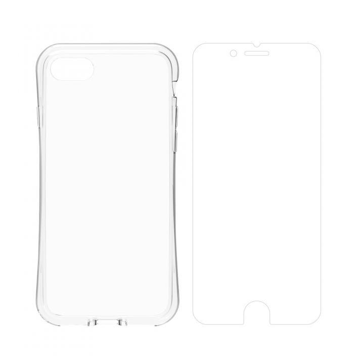 simplism 衝撃吸収フルカバーTPUケース&フィルムセット Aegis Grip Plus クリア iPhone 8