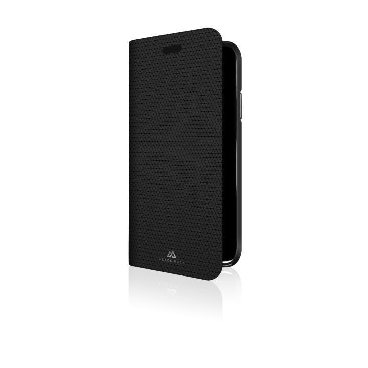 【iPhone Xケース】Black Rock フレックスカーボン素材 手帳型ケース ブラック iPhone X_0