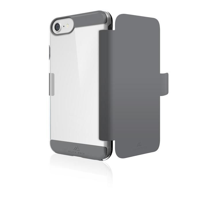 Black Rock エアフィットネス 手帳型耐衝撃ケース グレイ iPhone 8