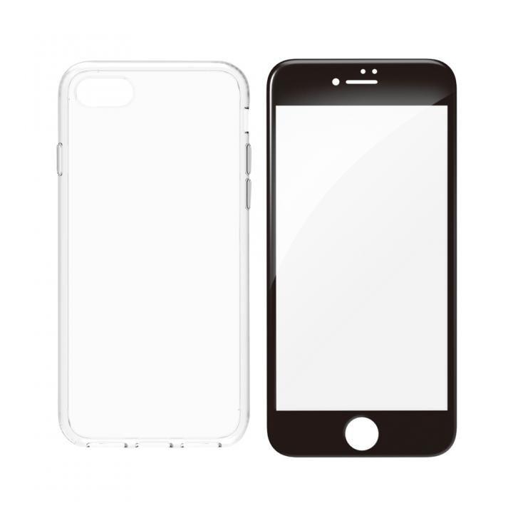simplism ハイブリッドケース&ガラスセット Turtle Pro ブラックフレーム iPhone 8