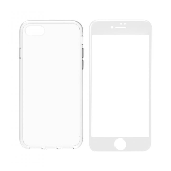 simplism ハイブリッドケース&ガラスセット Turtle Pro ホワイトフレーム iPhone 8