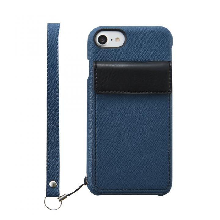 iPhone8 ケース simplism NUNO BackPack バックカバーカードケース ネイビー iPhone 8_0