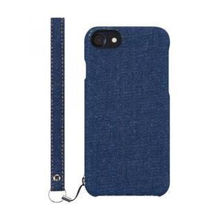 【iPhone8 Plusケース】simplism NUNO ファブリックケース デニム iPhone 8 Plus
