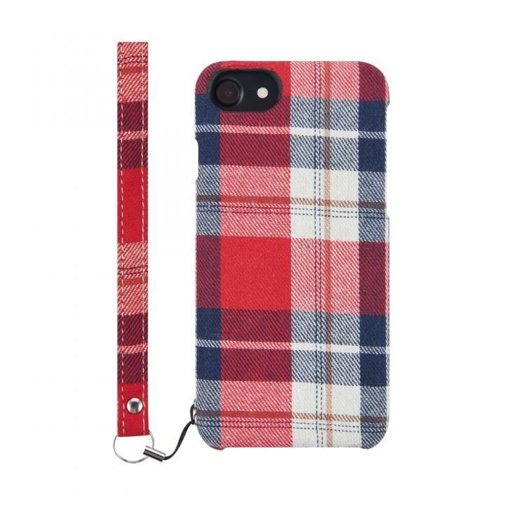 simplism NUNO ファブリックケース レッドチェック iPhone 8 Plus
