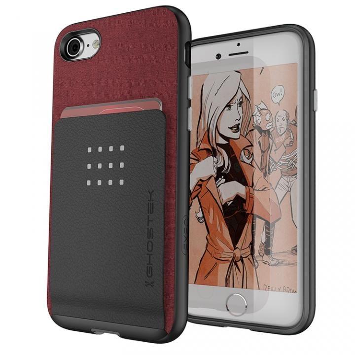 【iPhone8/7ケース】カードクリップ付タフケース エグゼク2 レッド iPhone 8/7_0