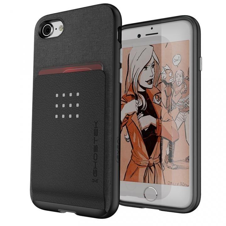 iPhone8/7 ケース カードクリップ付タフケース エグゼク2 ブラック iPhone 8/7_0