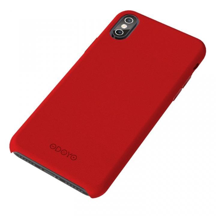 シンプルさを極めた大人のPUレザーケース スナップエッジ バーガンディレッド iPhone X