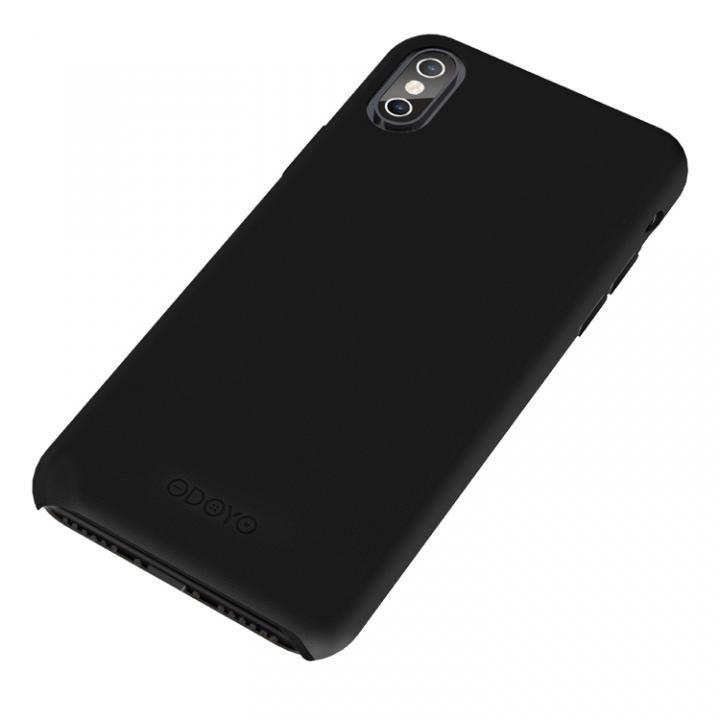iPhone X ケース シンプルさを極めた大人のPUレザーケース スナップエッジ セサミブラック iPhone X_0