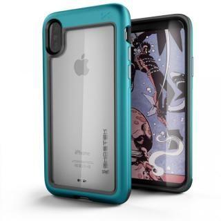 アルミ合金製スリムケース アトミックスリム ティール iPhone X