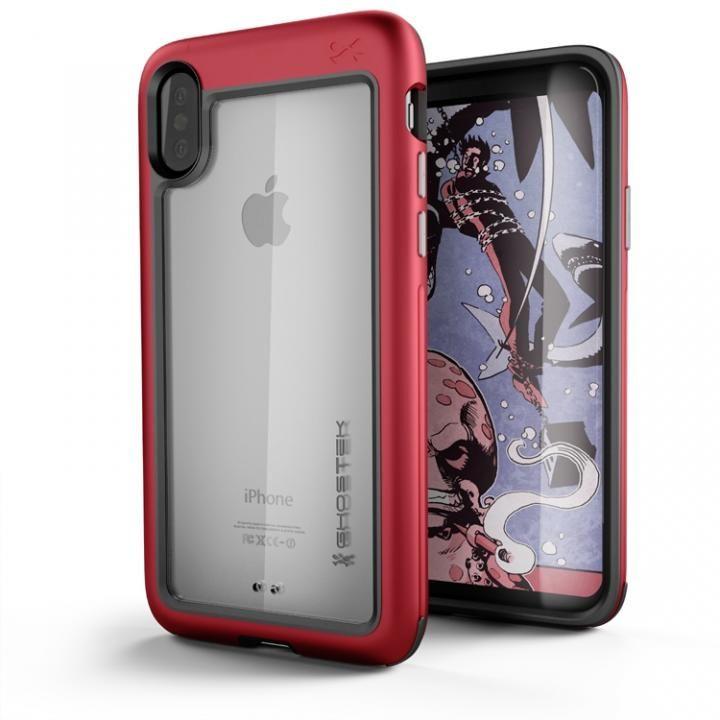 アルミ合金製スリムケース アトミックスリム レッド iPhone X
