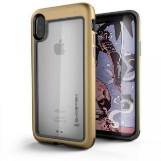 【iPhone X ケース】アルミ合金製スリムケース アトミックスリム ゴールド iPhone X