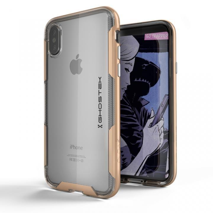 iPhone X ケース スタイリッシュなハイブリッドケース クローク3 ゴールド iPhone X_0