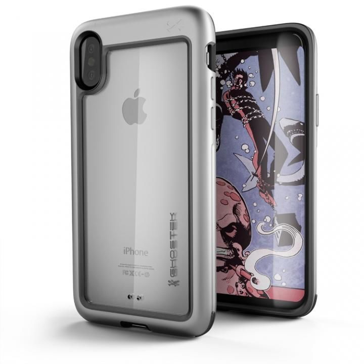 【iPhone Xケース】アルミ合金製スリムケース アトミックスリム シルバー iPhone X_0