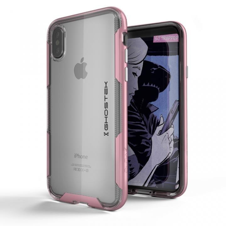 iPhone X ケース スタイリッシュなハイブリッドケース クローク3 ピンク iPhone X_0