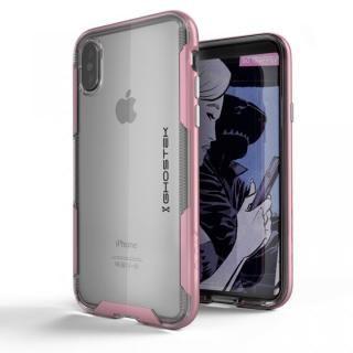 スタイリッシュなハイブリッドケース クローク3 ピンク iPhone X